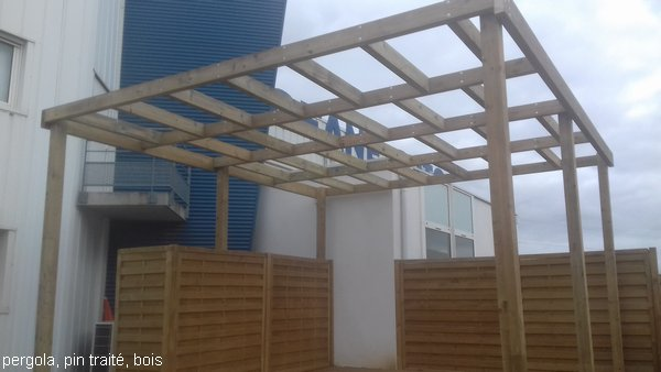 Pergola en pin traité